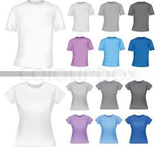 color and white t shirt design template photo realistic vector