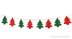 christmas decoration christmas decoration 202 christmas tree styled bunting banner flag