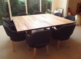 Furniture Large Square Wooden Dining Table With  Black Dining - Black dining table for 8