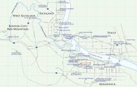 Map Of Washington Cities by Kennewick Hotel Map Pasco U2022 Mappery