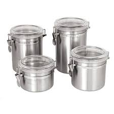 kitchen canisters stainless steel 14 best images about kitchen canisters on