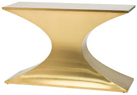 Gold Console Table Console Table In Brushed Gold Stainless Steel By Nuevo Hgsx260