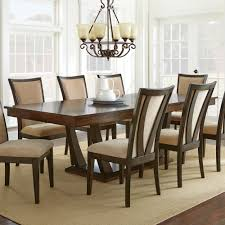 steve silver gabrielle 7 piece dining room set in medium walnut