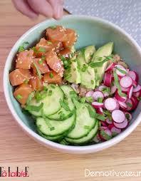 cuisiner pour une personne poke bowl saumon avocat pour 1 personne recettes à table