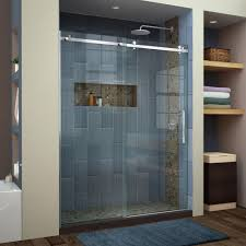Bathroom Glass Sliding Shower Doors by Dreamline Enigma Air 56 In To 60 In X 76 In Frameless Sliding