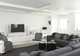 Gray ContemporaryModern Family Room Living Room Design Ideas - Modern family rooms