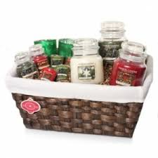 candle gift baskets yankee candle gift basket assorted christmas scents and sizes in