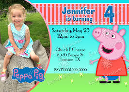 peppa pig birthday invitation kustom kreations
