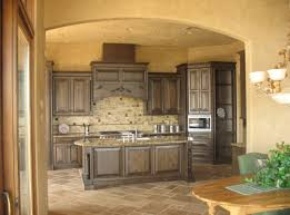 Tuscan Style Flooring by Kitchen Rustic Barstools Closed Big Counter On Traditional