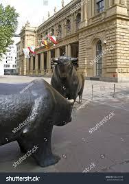 statues bear bull front stock exchange stock photo 640216189