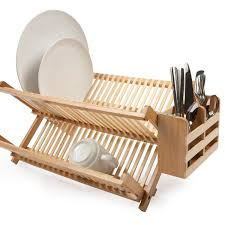 core bamboo antibacterial dish rack with utensil holder core