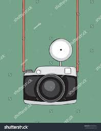hand drawn sketchy retro camera strap stock vector 623455964