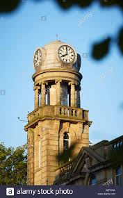 nelson lancashire landmark clock tower cotton mill town stock