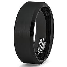 mens black wedding band men s black wedding band