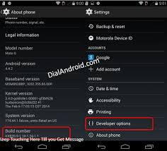 developer mode android dialandroid how to activate developer mode on moto g
