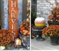 cheap fall decorations for outside best pumpkins ideas on