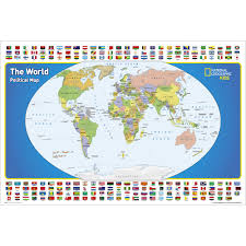 World Map Actual Size by The World For Kids Wall Map National Geographic Store