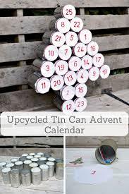 upcycled advent calendar using tin cans advent calendars craft