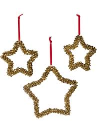 ornaments jingle bell metal ornaments set of 3