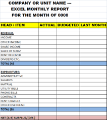 excel monthly report template u2013 excel word templates