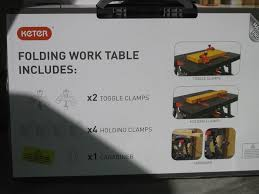 Keter Folding Work Table Bench Mate With 2 Clamps Don U0027t Like Sawhorses Keter Work Tables