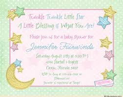 twinkle twinkle baby shower invitation moon