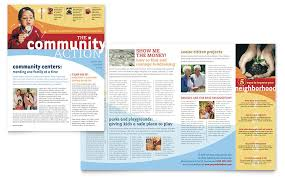 community non profit newsletter template word u0026 publisher