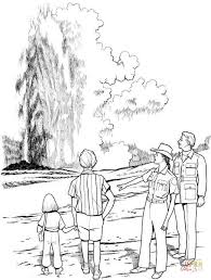 nature scene coloring pages geyser in yellowstone national park coloring page free printable