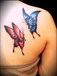 3d breast cancer tattoos on shoulder for design idea