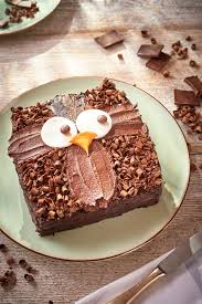 owl cake step by step recipe and easy cake decoration in the