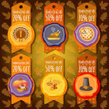 thanksgiving sale offer design template stock vector image