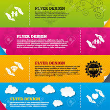 flyer brochure designs insurance icons and family