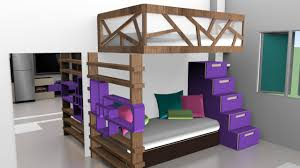 Small Mezzanine Bedroom by Design Bricks And Brushes