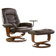 reclining chair with ottoman leather lane leather swivel recliner