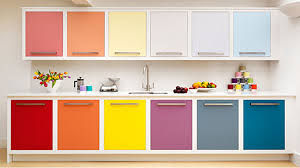 colourful kitchen cabinets colorful kitchen cabinet combinations with white wall kitchen