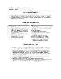 Call Center Sample Resume Objective For Resume For Internship Business List Templates Sample