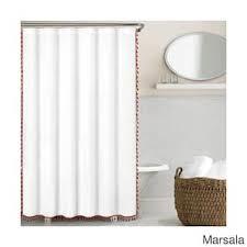 Orange Shower Curtains Orange Shower Curtains For Less Overstock Vibrant Fabric