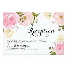 wedding reception card modern vintage pink floral wedding reception card zazzle