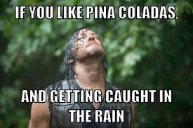 Walking Dead Meme Daryl - if you like piña coladas and getting caught in the rain meme the