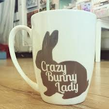 crazy bunny lady bone china mug by charlotte clark designer maker