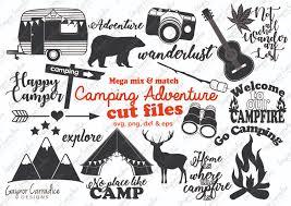 camping svg bundle camping svg happy camper cutting files
