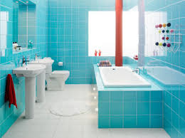 colorful bathroom design ideas orangearts blue white shade with