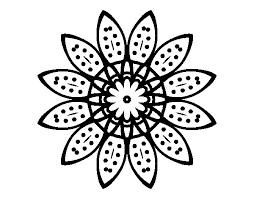 fiori disegni disegno di mandala fiori con petali da colorare acolore