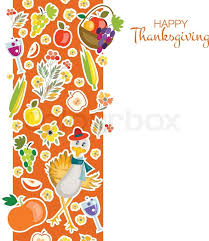 flat design style happy thanksgiving day background with