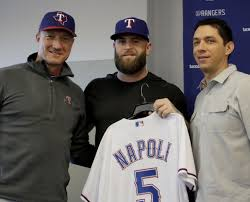 Jeff Banister Nap Time Rangers Mike Napoli Finally Reunited For 3rd Stint