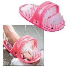 genuine shower foot brush scrubber massage cleaner spa bath