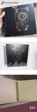 black leather scrapbook flash sale michael kors black leather photo album nwt michael