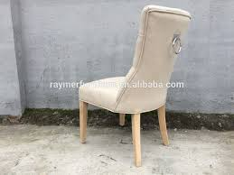 Ring Back Dining Chair French Beige Linen Tufted Dining Chair Ring Back Chair Hotel Ring