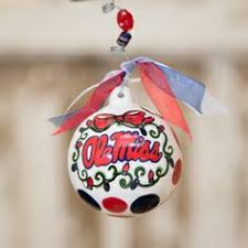 any fan will this ole miss large dot ornament