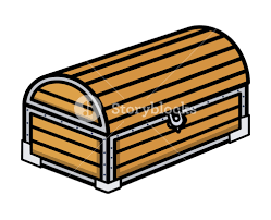 wooden trunk ancient treasure wooden trunk cartoon vector illustration